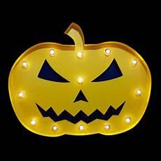 Jack O Lantern Lights Battery Blowout Halloween Marquee Light Jack O Lantern 1 Led Metal