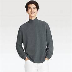 mens mock neck sleeve shirts heattech fleece mock neck sleeve t shirt uniqlo us