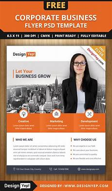 Free Business Flyer Design Free Corporate Business Flyer Psd Template Designyep