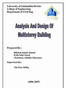 Analysis And Design Of Buildings Analysis And Design Of Multi Storey Building Solid
