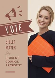 Student Council Poster Template Online Vote Student Council President Poster Template