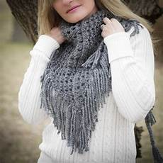 loom knit eyelet triangle shawl pattern lace scarf