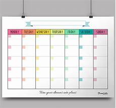 Calender Pages To Print Calendar Monthly Planner Free Printable On Behance