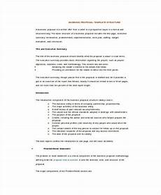 Business Proposals Templates 25 Sample Business Proposal Templates In Word Free