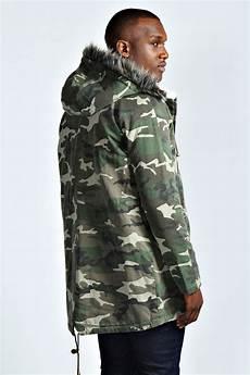 mens camo coats ladybird boohoo mens washed camo parka jacket in camo green ebay