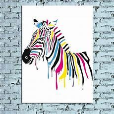 Colorful Zebra Design Modern New Idea Design Quot Colorful Zebra Quot Canvas Print