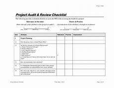 Project Management Audit Checklist Project Audit Amp Review Checklist