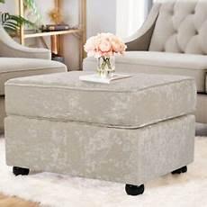 crushed velvet upholstered sofa footstool ottoman thick