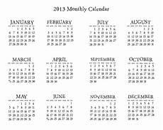 Mini Calendars To Print Pinecone Press 2013 Mini Calendars
