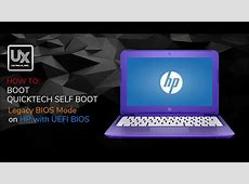 How to Boot QuickTech Self Boot hardware diagnostics on HP