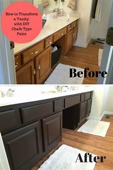 painted bathroom vanity ideas bathroom vanity transformation with diy chalk type paint