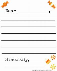 Fall Letters Template Free Fall Candy Themed Letter Template Printable