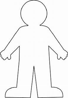 Body Template Outline Human Clipart Body Outline Pencil And In Color Human
