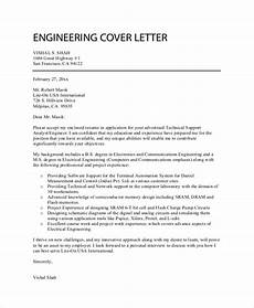 Engineer Cover Letters Free 7 Sample Professional Cover Letter Templates In Pdf