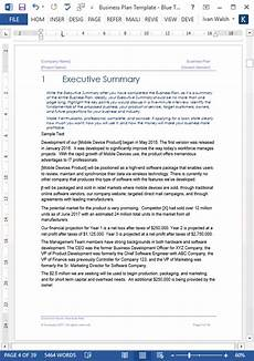Microsoft Office Business Plan Templates Business Plan Templates 40 Page Ms Word 10 Free Excel