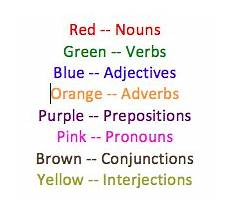 Color Coded Grammar Chart Color Coding Sentences Brwi