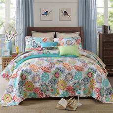 3pcs cotton quilted coverlet bedspread patchwork