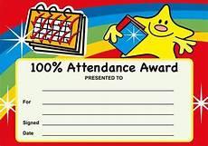 100 Attendance Certificate Template 100 Attendance Award Certificates