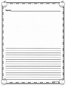Kindergarten Paper Template Grab This Freebie Writing Paper Here Check Out The