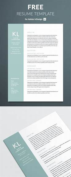 Indesign Resume Template Modern Resume Template For Indesign Free Download