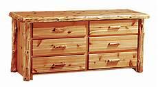 timberland cedar log 6 drawer dresser rustic furniture