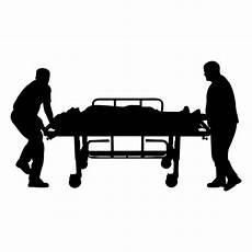 doctors pushing stretcher silhouette transparent png