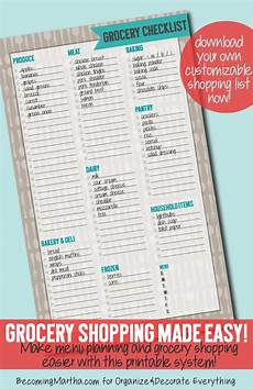 Grocery Shopping Checklist Grocery Checklist Printable Contributor Organize And