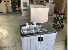NSF 30 ins Portable three compartment sink