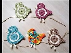 crochet applique crochet bird applique 1
