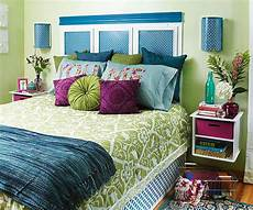 Blue And Green Bedroom Decorating The Bedroom With Green Blue And Purple