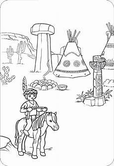 ausmalbilder playmobil indianer vorlagen