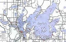 Cass Lake Depth Chart Lake Map Leech Lake Area Chamber Of Commerce