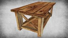 Rustic Wood Sofa Table 3d Image by 3d Model Rustic Wood Table 02 Vr Ar Low Poly Max Obj