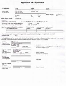 How To Fill Out Job Application Employment Application Template Mn Employment Application