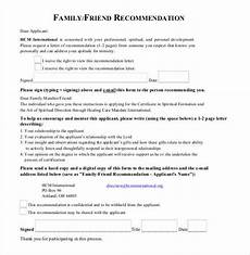 Letter Of Recommendation Format For A Friend 23 Friend Recommendation Letters Pdf Doc Free