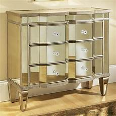 mirrored three drawer accent chest free shipping today