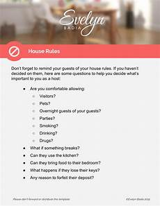Rental House Rules Template House Manual Instructions For Hosts Png Airbnb House