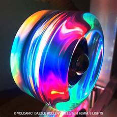 Roller Skates With Lights In Wheels Volcanic Lightup Quad Skate Wheels In Outdoor Volcanic