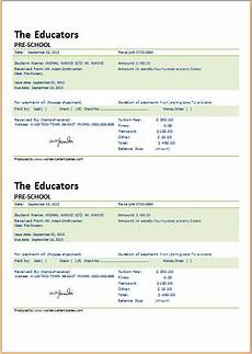 school receipt template school fee payment receipt for word word excel templates
