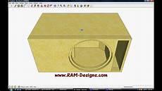 Ram Designs Ram Designs Dc Audio Level 3 15 Quot Ported Box Design Youtube