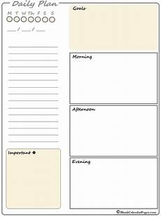 Daily Calendars 2020 Printable Daily Planner Planner Templates