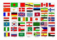 Flags Of The World Chart Printable Printable List Of Wagggs Countries All Countries Flags