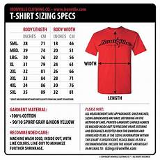 Connected Apparel Size Chart Ironville Size Charts Clothing Size Chart Powerlifting