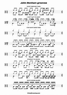 Free Sheet Music Charts Free Drum Transcriptions Pdf Music Sheet John Bonham Grooves