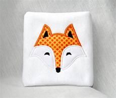 Applique Designer Fox Face Applique Machine Embroidery Design 4x4 5x7 6x10