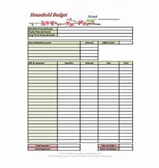Detailed Budget Template 13 Household Budget Templates Free Sample Example