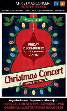 Christmas Lights Flyer Template Christmas Concert Music Event Flyer Or Poster Event