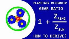 Planetary Gear Ratio Tutorial How To Derive The Formula For The Planetary