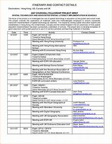 itinerary format 6 itinerary format authorizationletters org