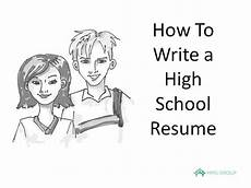 How To Write A Resum How To Write A Resume High School Example Youtube